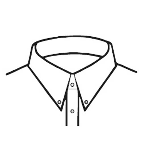 C3 – Button Down Point Collar