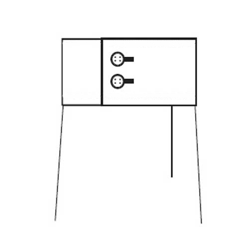 D5-Two Button Square